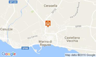 Karte Marina di Ragusa Villa 107273