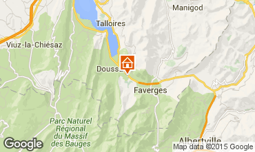 Karte Annecy Ferienunterkunft auf dem Land 101918