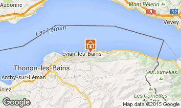 Karte Evian les Bains Ferienunterkunft auf dem Land 14092