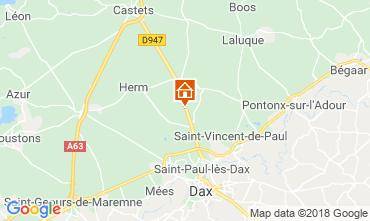 Karte Saint Paul les Dax Ferienunterkunft auf dem Land 116567