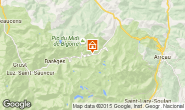 Karte La Mongie Appartement 28715