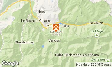 Karte Les 2 Alpes Studio 1201