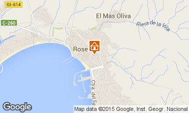 Karte Rosas Appartement 86249