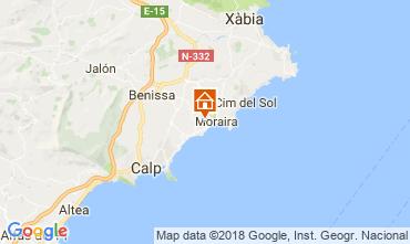 Karte Moraira Villa 115607