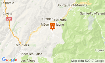 Karte La Plagne Chalet 31596