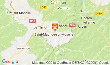 Karte Saint-Maurice-sur-Moselle Chalet 113443
