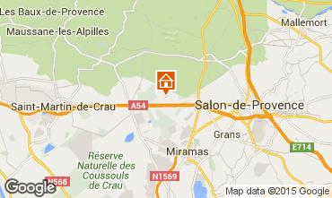 Karte Salon de Provence Ferienunterkunft auf dem Land 77630