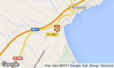 Karte L'Ampolla Villa 101811