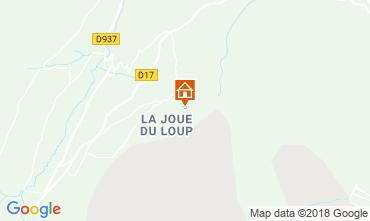 Karte La joue du Loup Chalet 76008