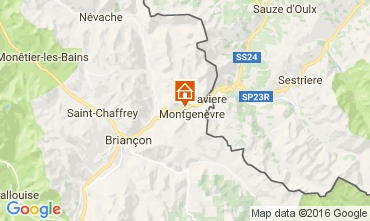 Karte Montgenevre Studio 98347