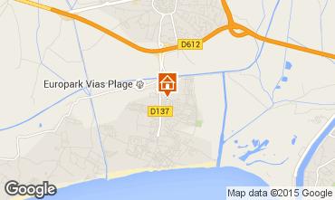 Karte Vias Plage Mobil-Home 54184