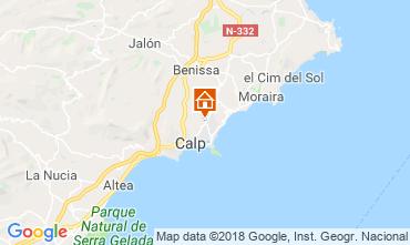 Karte Calpe Chalet 117542