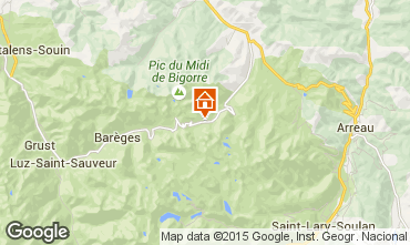 Karte La Mongie Appartement 27347