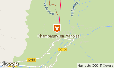 Karte Champagny en Vanoise Appartement 69458
