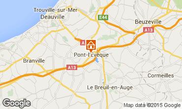 Karte Deauville Ferienunterkunft auf dem Land 77536