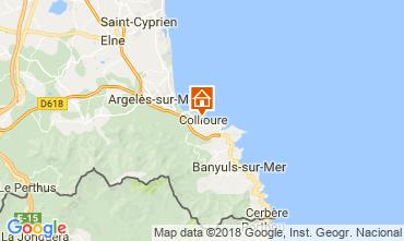 Karte Collioure Fremdenzimmer 115307