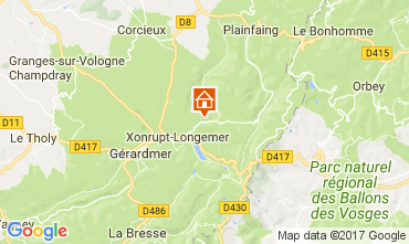 Karte Gérardmer Ferienunterkunft auf dem Land 90797
