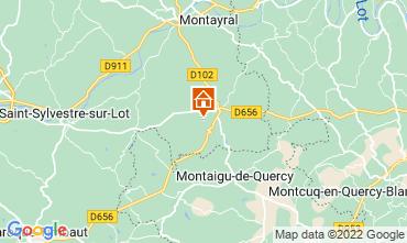 Karte Penne d'Agenais Ferienunterkunft auf dem Land 12564
