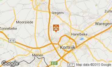 Karte Kortrijk Ferienunterkunft auf dem Land 78556