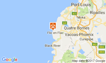 Karte Flic-en-Flac Appartement 109581