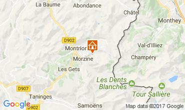 Karte Morzine Chalet 112052