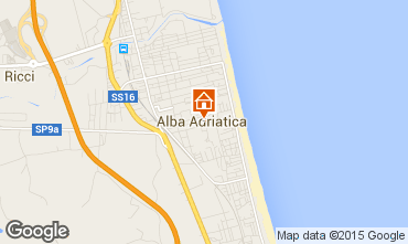 Karte Alba Adriatica Appartement 40987
