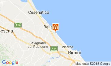 Karte Bellaria Igea Marina Appartement 113131