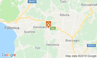 Karte Gavorrano Ferienunterkunft auf dem Land 80832