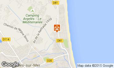 Karte Argeles sur Mer Appartement 9849