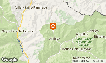 Karte Arvieux en Queyras Appartement 538