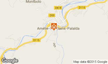 Karte Amélie-Les-Bains Studio 14395