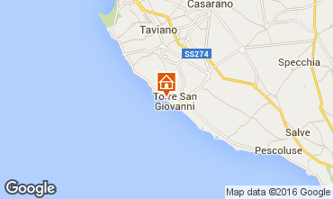 Karte Ugento - Torre San Giovanni Appartement 84985