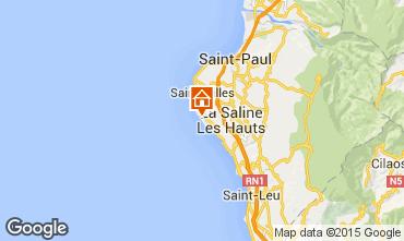 Karte La Saline les Bains Appartement 92422