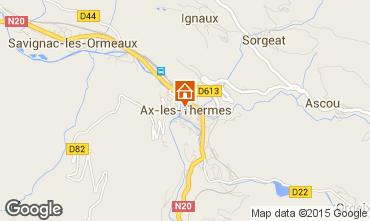 Karte Ax Les Thermes Appartement 85844