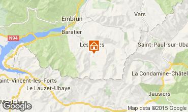 Karte Les Orres Studio 14569
