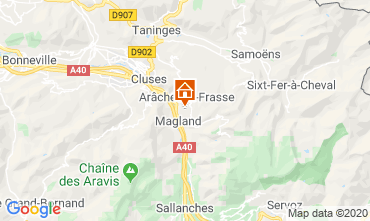 Karte Les Carroz d'Araches Studio 60427