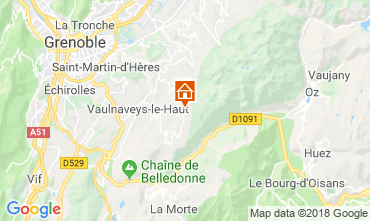 Karte Chamrousse Studio 28359