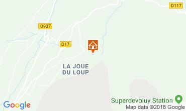 Karte Superdévoluy- La Joue du Loup Chalet 115811