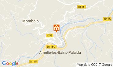 Karte Amélie-Les-Bains Appartement 112243
