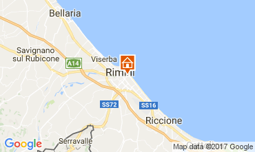Karte Rimini Appartement 110826