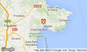 Karte Rosas Appartement 8306