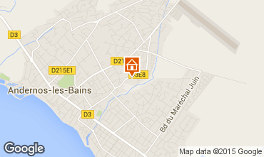Karte Andernos les Bains Studio 81839