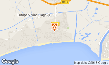 Karte Vias Plage Mobil-Home 86800