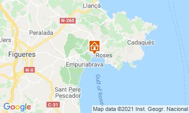 Karte Rosas Appartement 105098