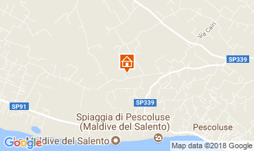 Karte Pescoluse Villa 114253