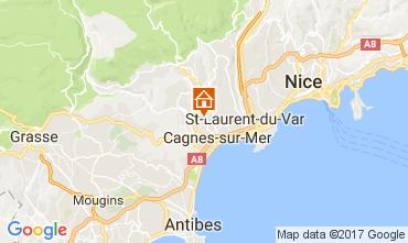 Karte Cagnes sur Mer Villa 92776