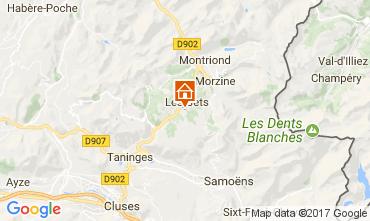 Karte Les Gets Chalet 112178