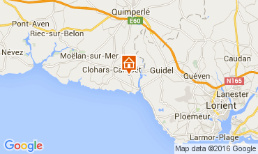 Karte Clohars Carnoet Mobil-Home 103630