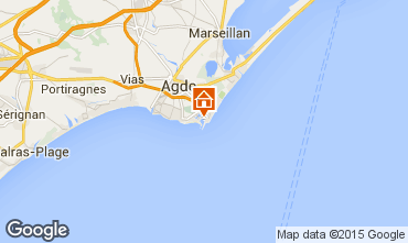 Karte Cap d'Agde Studio 29455