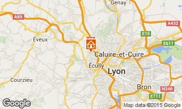 Karte Lyon Ferienunterkunft auf dem Land 100775